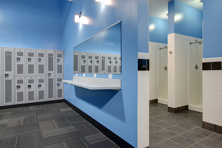 Zip Fitness Locker Rooms